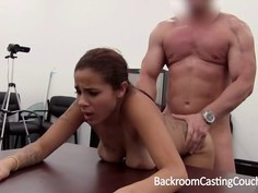 Latina Audrey turns up the anal at her casting