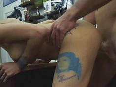 Fucked And Taking Facial In Front Of Husband In Pawn Shop