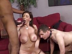 Sara Jay Fucks A Black Cock In Font Of Her Cuckboy