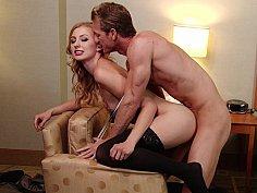 Hotel fantasy sex with a blonde GF