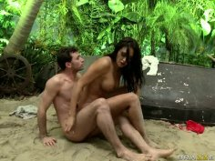 Devilish Claudia Valentine gets fucked hard in the forest by Tarzan