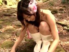 Kawaii nympho Reimi Tachibana works on camera and boasts of her tits