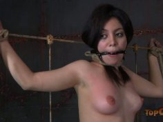 Daring brunette whore Lorna enjoys hardcore action in BDSM scene