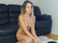 young slut plays with her pussy and puts her in anal and cums from it