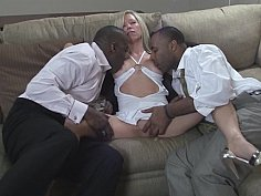 Gang-bang for a BBC addict