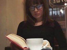 Nerdy sex doll in glasses receives maximum joy