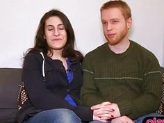 Sympathetic everyday amateur couple tries swinger sex
