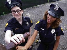Lyla Lali and Norah Gold Take BBC on Patrol Car