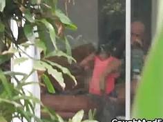 Creep taping gf throating through window