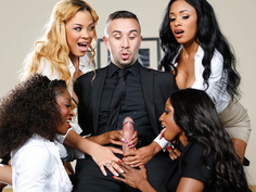 Office 4-Play VII: Ebony Babes