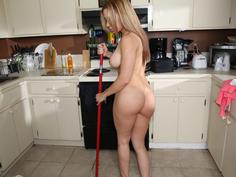 Hot naked Latina maid