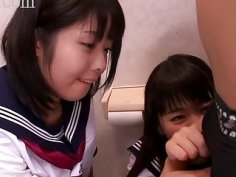 Petite Oriental shares dick with her sexy friend