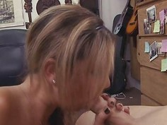 Busting out pornstars pretty face with huge load of cum