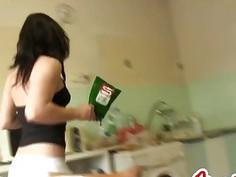 East European Housekeeping SLUT gets Fucked in her ass, hardcore !