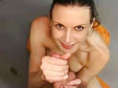 Brunette Babe Wants A Cum Facial From Him