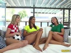 Lesbian soccer girls are horny