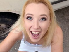 Samantha Rone is sucking the hard cock in POV