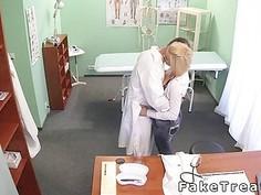 Medical student fucks in fake hospital