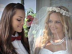 Beautiful lesbian brides