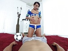 Sporty babe got fucked in a hot VR porn movie