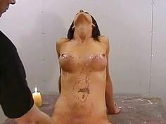 Amateur bdsm of busty Danii Black in private