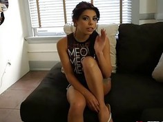 Step bro records Gina Valentinas deep throat blowjob