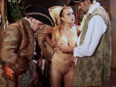 Busty princess Trina Michaels pleases studs in the shed